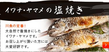 イワナ・ヤマメの塩焼き